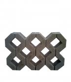 Газонная решетка бетонная Турфстоун серая 596х396х80 мм