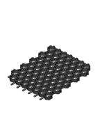 Газонная решетка пластиковая Eco Normal черная 530х430х33мм Гидролика