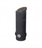 Колодец дренажный смотровой 340/300х1000 мм с тремя отводами 110 мм, дном и крышкой