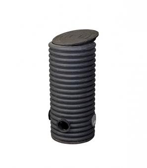 Колодец дренажный смотровой 460/400х1000 мм с тремя отводами 110 мм, дном и крышкой