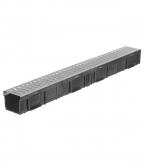 Лоток водоотводный Gidrolica 1000х115х95 мм пластиковый со стальной решеткой