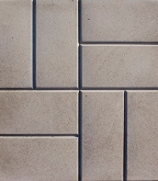 Плитка тротуарная  8 кирпичей 400х400х50 мм серая