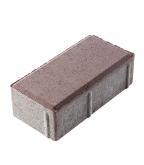 Плитка тротуарная Брусчатка кирпичик 100х200х60 мм коричневая