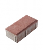 Плитка тротуарная Брусчатка кирпичик 100х200х60 мм красная