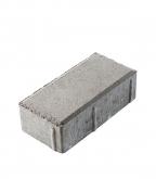 Плитка тротуарная Брусчатка кирпичик 100х200х60 мм серая