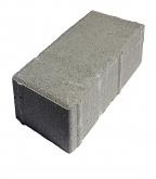 Плитка тротуарная Брусчатка кирпичик 100х200х80 мм серая