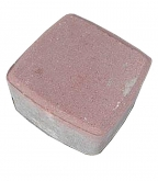 Плитка тротуарная Брусчатка классика 115х115х60 мм красная