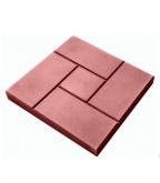 Плитка тротуарная   Калифорния 300х300х30 мм красная