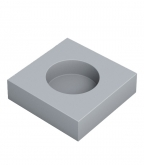 Подрозетник звукоизоляционный SoundGuard ИзоБокс 36х115х115 мм 1 секция